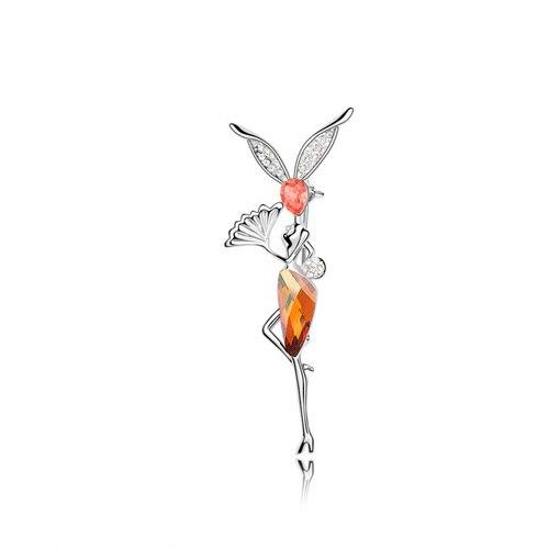 ANKA рисунок Кристалл Броши морской эльф булавка Кристалл ювелирные изделия цветы эльфы Главный Камень Кристаллы из Австрия#87560 - Окраска металла: 87554