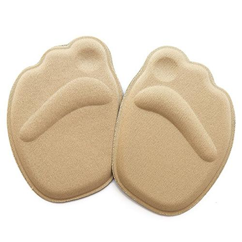 1Pair Foot Care Sponge 4D Forefoot Front Pad Half Insoles Anti Slip Cushion Pads