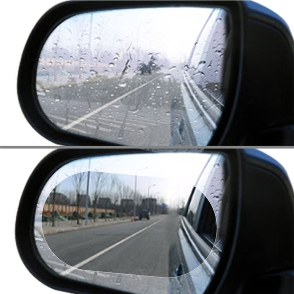 Car Rearview Mirror Waterproof Membrane Anti-fog Car Mirror Window Film Automobile Replacement Accessories