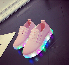 children shoes with lights 2017 autumn baby girls shoes chaussure led Luminous child fashion breathable boys sneakers EU 21-30