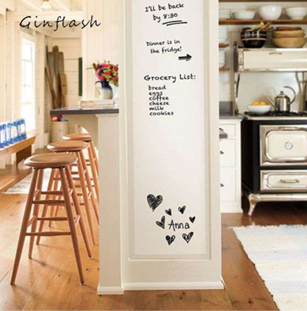 1pc 45X100cm Soft Flexible Whiteboard Message Board Notes Waterproof Wall Sticker With 1 Marker Pen