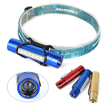 Cheapest!! 2-IN-1 6 LED + Q5 LED Mini Headlamp Headlight Head Light Torch Flashlight AAA Lamp Lanterna By 18650, 3 Color.