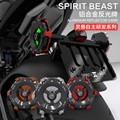 Spirit Beast 2pcs/lot motorcycle warning reflective licensing alloy card good quality Luminous