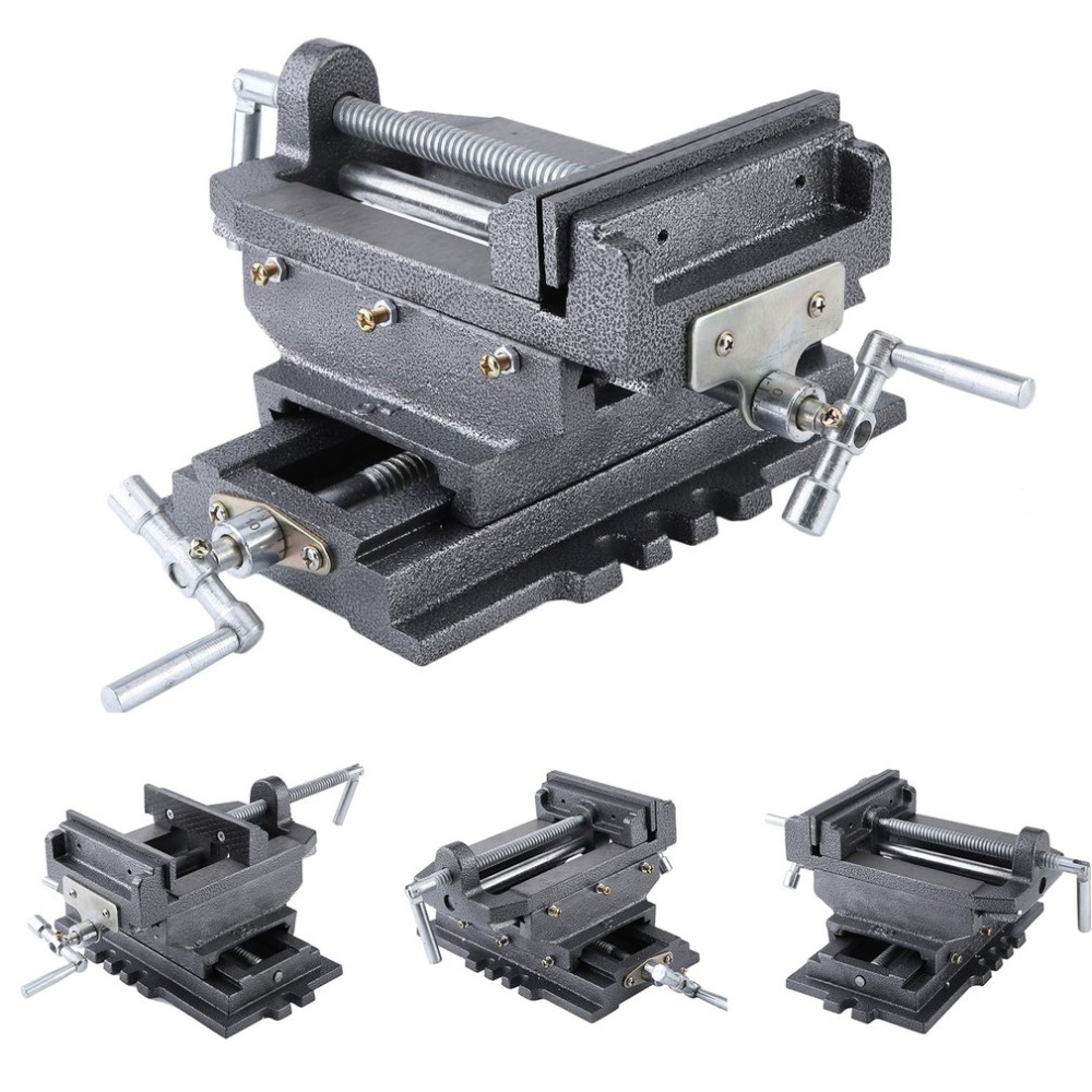 (Ship From DE)Compact Bench Clamp 2-Axles Cross Working Table Vice For Drilling Milling Machine Professional 6 Inch Bench Vise цена