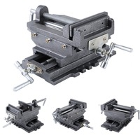 (Ship From DE)Compact Bench Clamp 2 Axles Cross Working Table Vice For Drilling Milling Machine Professional 6 Inch Bench Vise