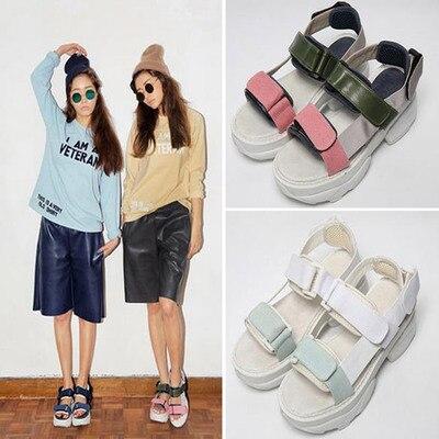 69959b549e7 Online Shop Velcro 2015 summer wedges sandals platform shoes student shoes  women s sports sandals