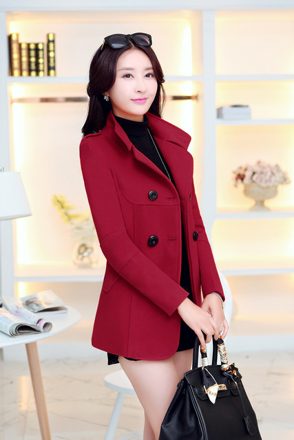 En najaar vrouwelijke bovenkleding slim wollen jas winter kleding goedkope kleding china vrouwen jas Mode sexy kleding