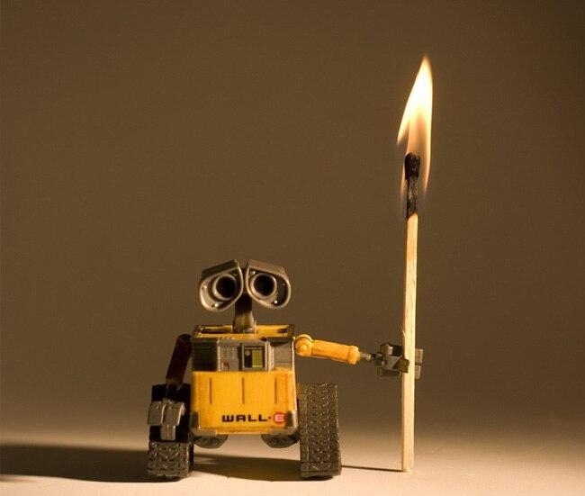 где купить 1pcs Optional 6cm Wall-E Robot & 9cm EVE PVC Wall E Collection Model Toys Dolls Free Shipping дешево
