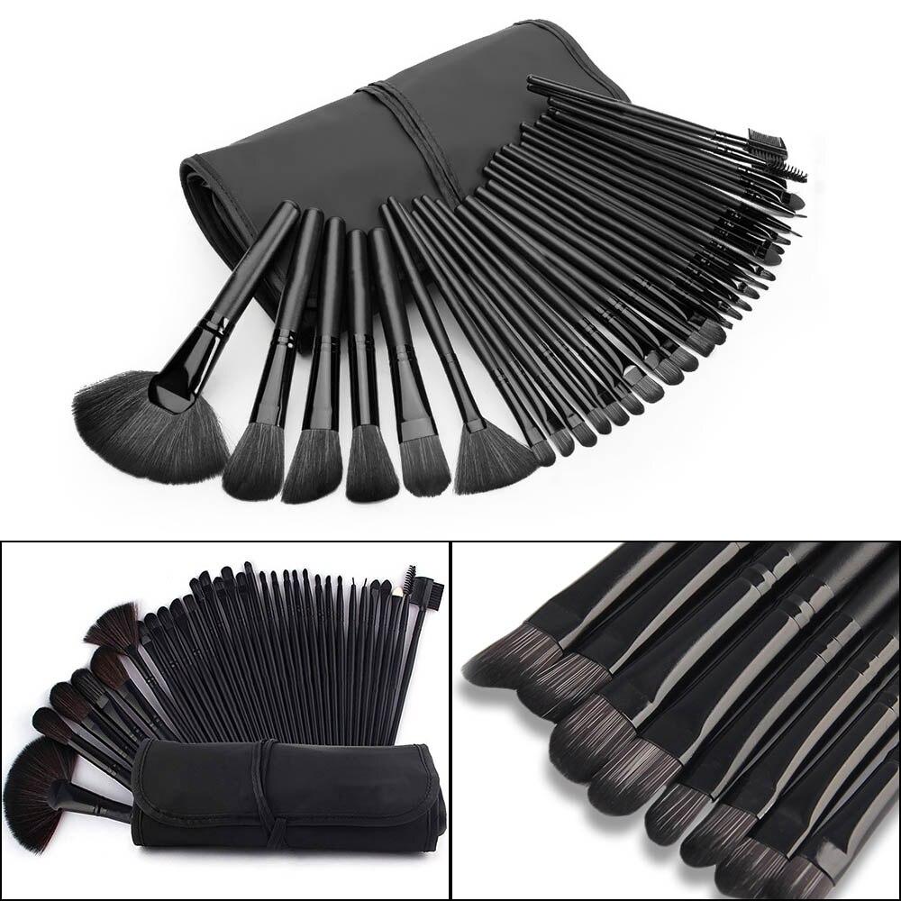 32Pcs Set Professional Makeup Brush Foundation Eye Shadows Lipsticks Powder Make Up Brushes Tools Black Bag pincel maquiagem Kit