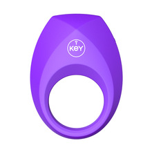 KEY Male Penis Ring Vibration Delay Penis Ring USB charging  Sex toys for Men