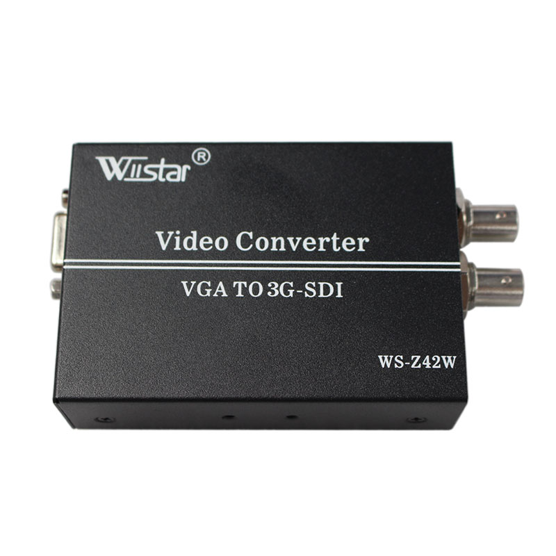 VGA TO Sdi Converter BNC HD 3G Vga to Sdi 1080P+ Audio Scaler Converter SMPTE 425M 424M 292M DH redamigo 100m hd 3g sdi to vga scaler converter audio video sdi to vga with power adapter for hdtv cctv pc