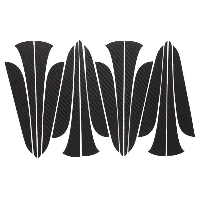 Savanini Car-Styling 1set 16 Inches Carbon Fiber Wing Wheels Mask Decal Sticker Trim For Citroen C4L A Style yandex w205 amg style carbon fiber rear spoiler for benz w205 c200 c250 c300 c350 4door 2015 2016 2017