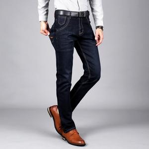 Image 1 - Sulee Merk Mannen Jeans Maat 28 om 42 Blauw Stretch Denim Slim Fit Mannen Jean voor Man Broek Broek jeans