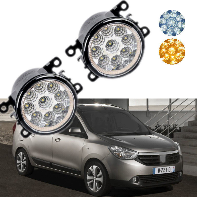 Car Styling For Dacia Renault Lodgy 2013- 9-Pieces Leds Chips LED Fog Light Lamp H11 H8 12V 55W Halogen Fog Lights simon thompson the political theory of recognition