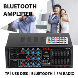 KA-630 12 В 220 В 2CH EQ Bluetooth стерео Мощность усилитель плеера Автомобильные усилители Проекторы для домашнего кинотеатра Audio 200 Вт