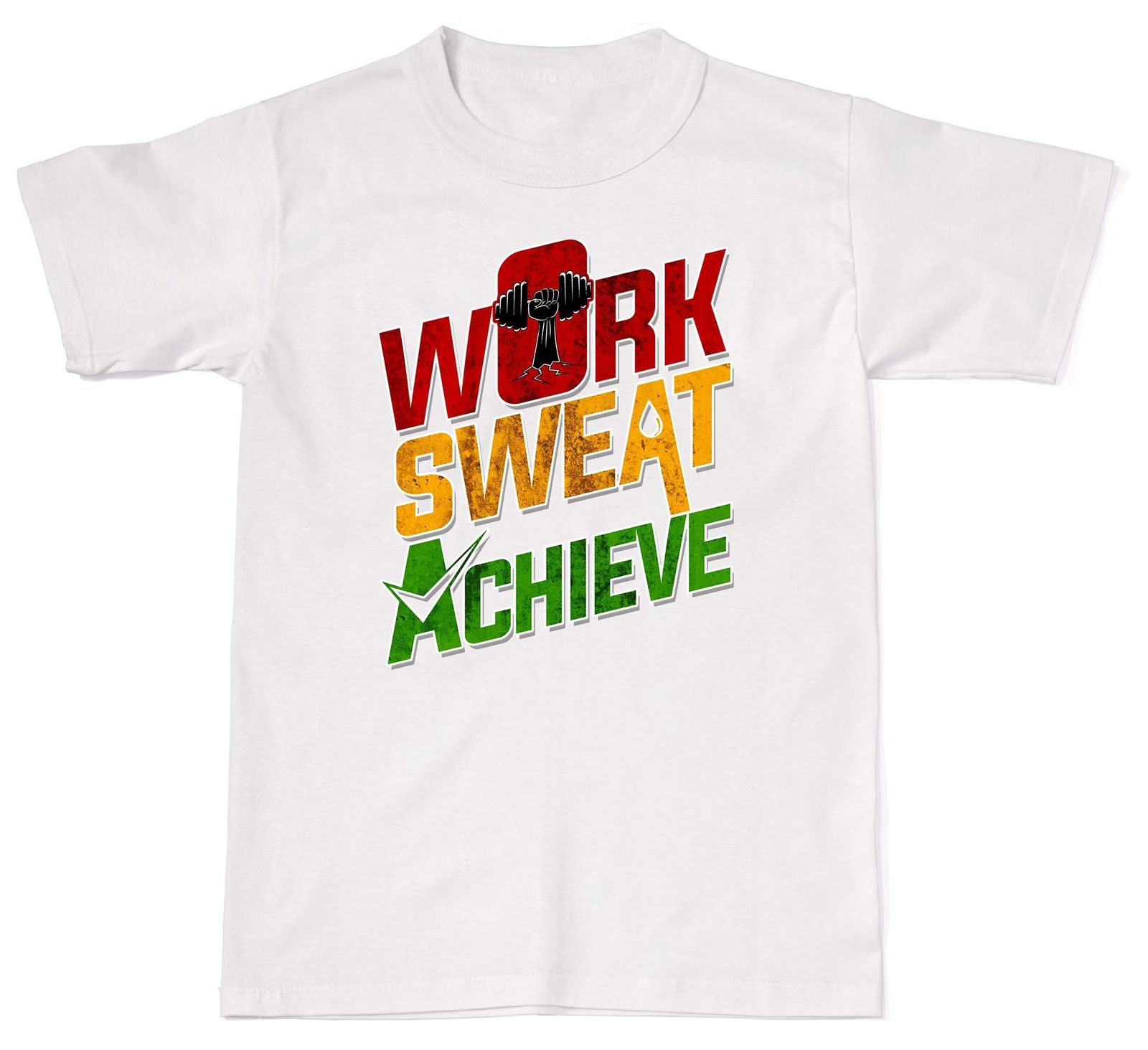 Design T Shirts Casual Cool Work Sweat Achieve Gym Work Out Exercise Cotton T Shirt T-Sh ...
