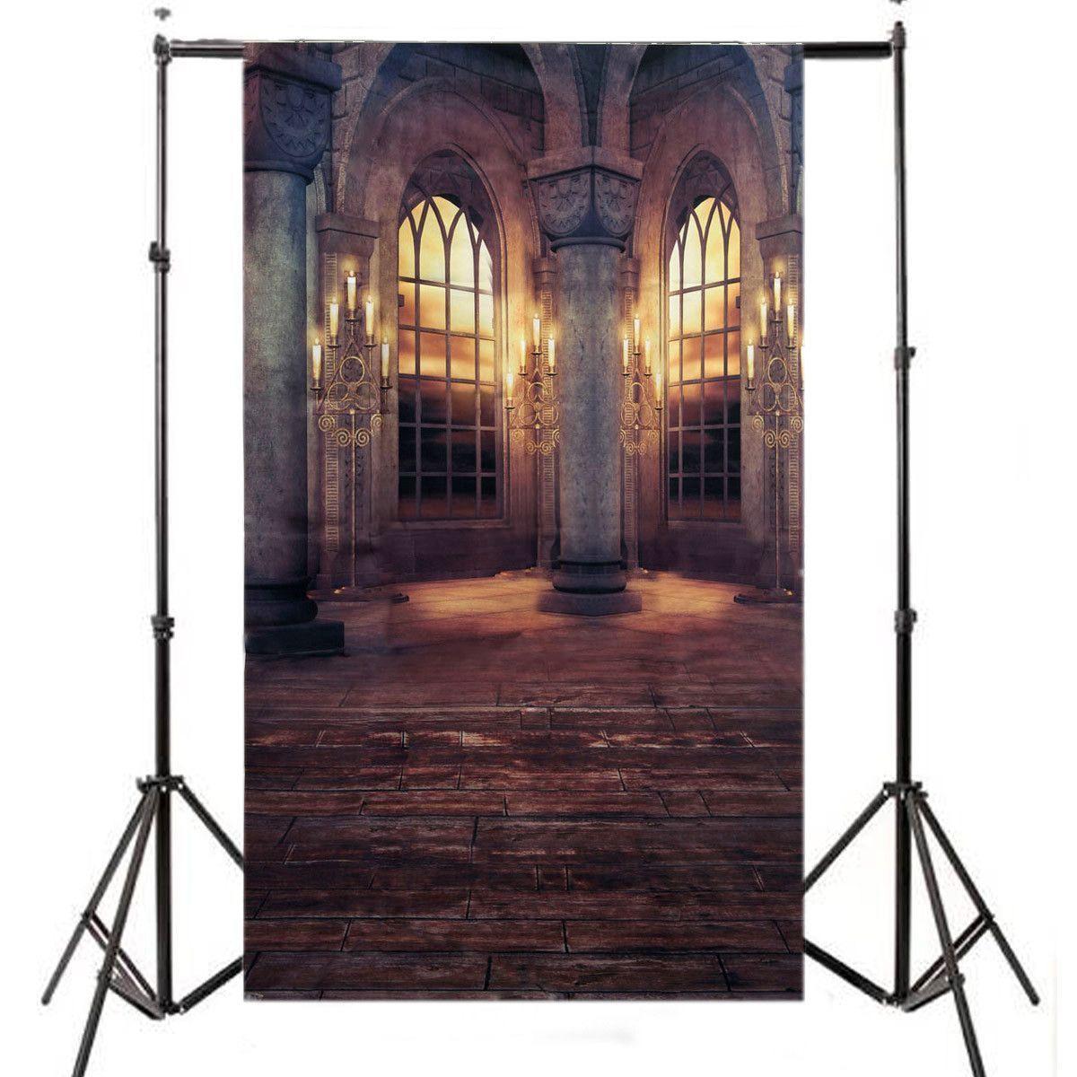 CES-3x5FT Retro Palace Vinyl Cloth Photography Prop Studio Backdrop Photo Background цена и фото