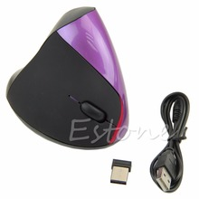 New Rechargeable Wireless Mouse Ergonomic Design Optical Mouse 1600 DPI Wireless USB Vertical for Computer PC