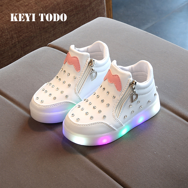 Girl rhinestone Princess shoes 2018 spring Autumn baby comfort non-slip  small leather shoes children 62660910d506