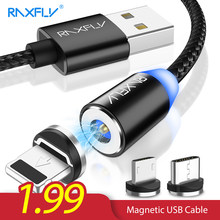 RAXFLY Magnetic Charge For iPhone XS Max XR Cable Magnetic Charger Micro USB Type C Cable Magnet Lightning to USB Charging Wire(China)