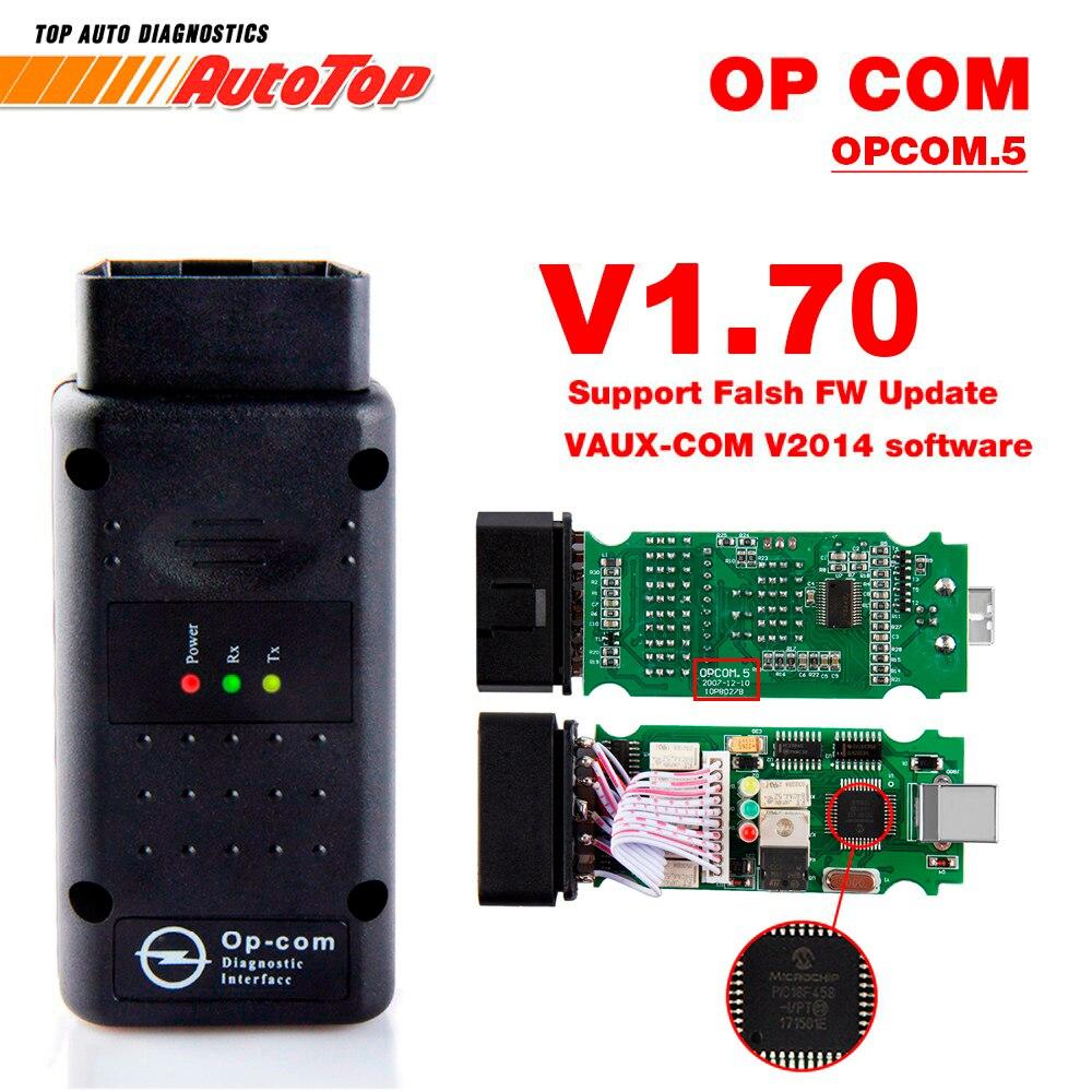 2018 OP COM per Opel V1.70 OBD2 OP-COM Auto Diagnostica Scanner Reale PIC18f458 OPCOM per Opel Strumento di Diagnostica Auto Flash firmware