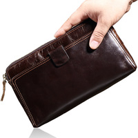 LEINASEN 2017 New Famous Brand Male Clutch Genuine Leather Wallet Men Clutch Bag Clutch Male Wallet