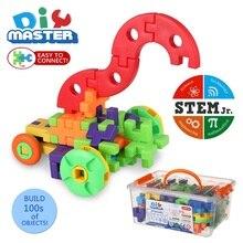 64 шт. шестерни строительные наборы 3D головоломки пластиковые кирпичи детские развивающие игрушки строительный блок для детей Рождественский подарок