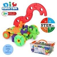 64 Pieces Gears Building Kits 3D Puzzle Plastic Bricks Kids Educational Toys Building Block For Children Christmas Gift