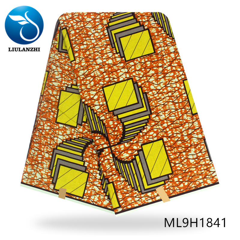 LIULANZHI cotton ankara fabric 6 yards lot african prints wax fabric 2019 nigerian dutch wax ML9H1834