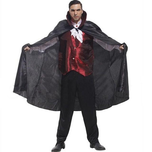 red vest vampire cape suit halloween costumes halloween party stage - Halloween Costumes With A Cape