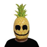 Pineapple Man Mask Halloween Cosplay Costume Party Masquerade Masks Latex Full Face Masks Festival Party Supplies