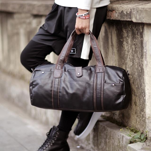 e6c76ef24e New 2017 Casual Vintage Handbags PU Leather Men Crossbody Bags Men s  Traveling Tote Bags luxury duffel