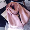 2016 New Luxury Scarf Winter Women Scarf Imitation Cashmere Studios Tassels Napped Solid Woven Pattern Thick Warm Scarf Shawl