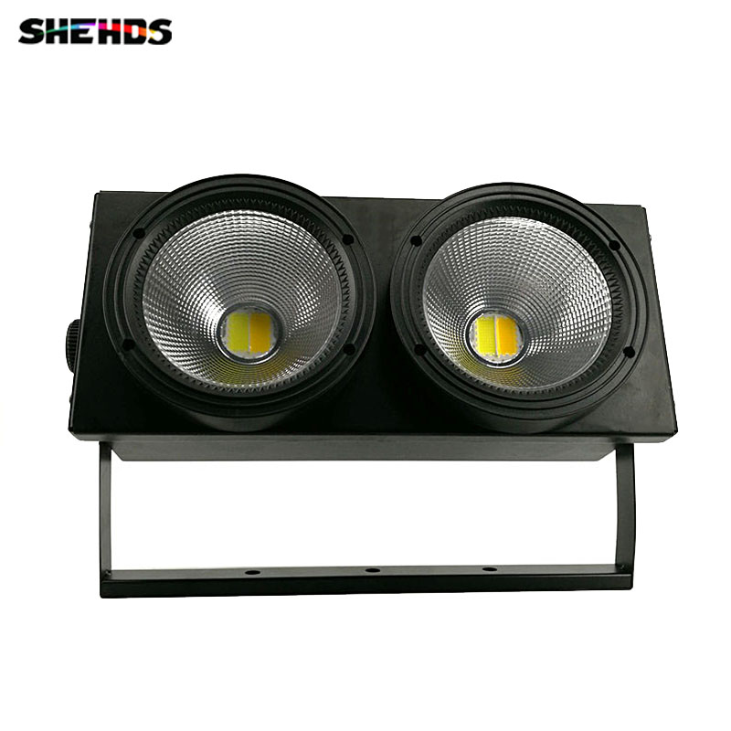 LED COB 2eyes 2x100W Blinder Lighting DMX Stage Lighting Effect ,SHEHDS Stage Lighting  rasha brand 2 100w 2in1 cob ww cw led blinder light stage audience studio blinder light theater light