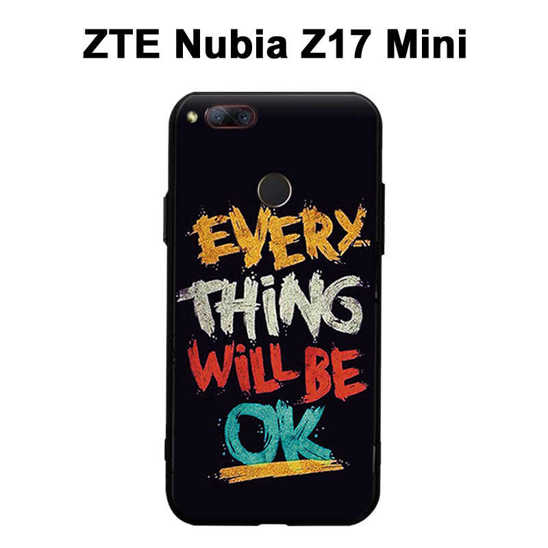 ZTE ヌビア Z17 ミニケース 3D レリーフ絵画シリコーンケース裏表紙 Zte ヌビア Z 17 ミニカバー漫画ソフト Z 17 ミニケース
