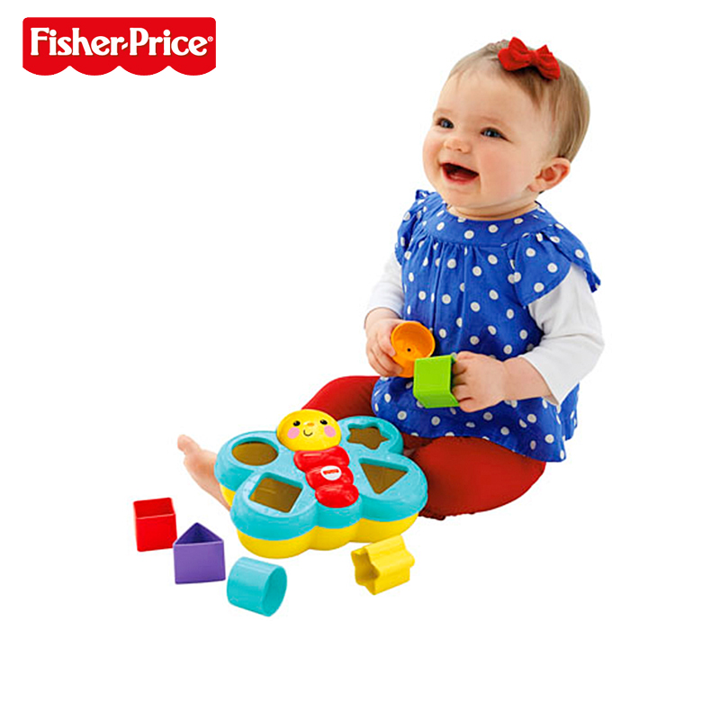 Fisher Price Baby Toys : New fisher price small butterfly matching box baby toys