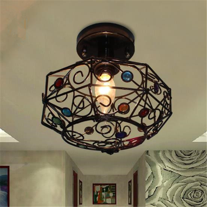 American Style Simple Restaurant Ceiling Light Children Room Cafe Livingroom Stairs Aisle Corridor Balcony Lamp Free Shipping american copper balcony aisle ceiling lamp simple industry retro corridor restaurant ceiling light free shipping