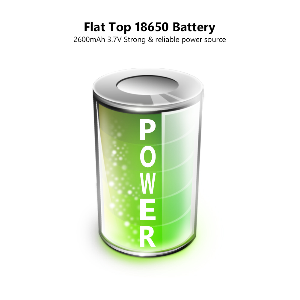 18650 battery 2600mAh 3 7V For Torch Mini Fan Power Rechargeable batteries discharge Lithium Li ion bateria in Replacement Batteries from Consumer Electronics