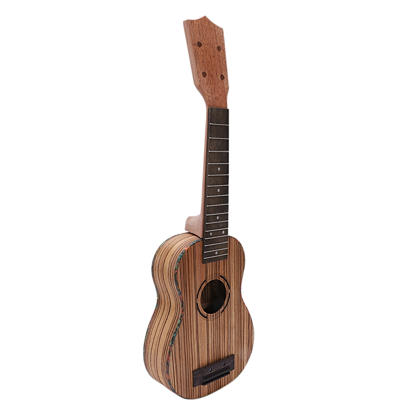 Soprano Ukulele Diy Kit 21 Inch Zebrawood 4 Strings Hawaiian Guitar For Handwork Painting Perfect Parents-Child Campaign