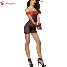 Goorselent Sexy lace babydoll dress SM Handcuffs  sexy tranparent pajama Perspective erotic costumes pantyhose lingerie