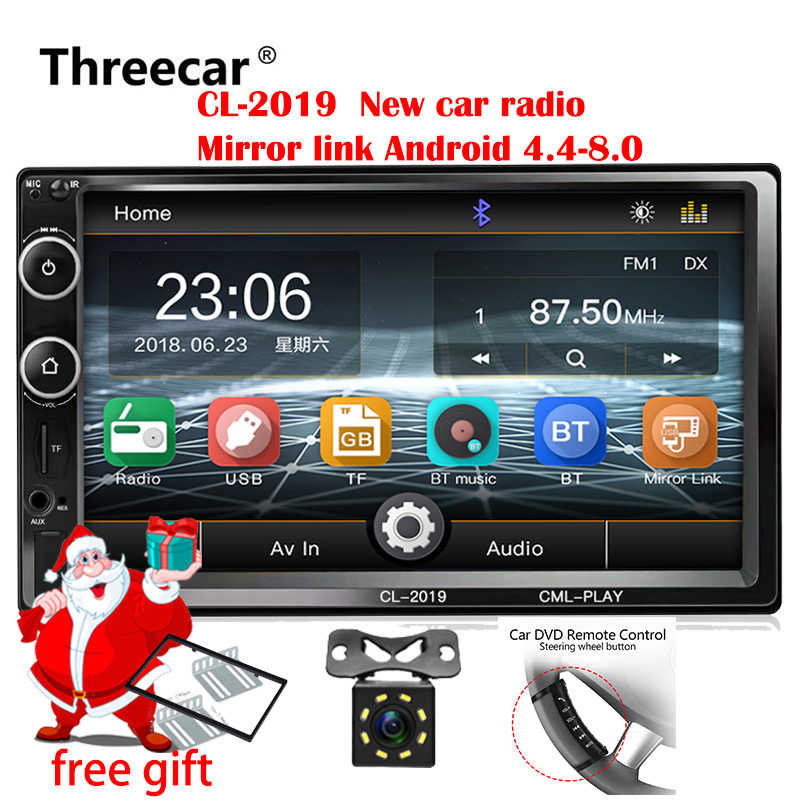 2din Mobil Radio 7 Inci Touch Mirrorlink Android Player Subwoofer MP5 Player Autoradio Bluetooth Rear View Kamera Tape Recorder