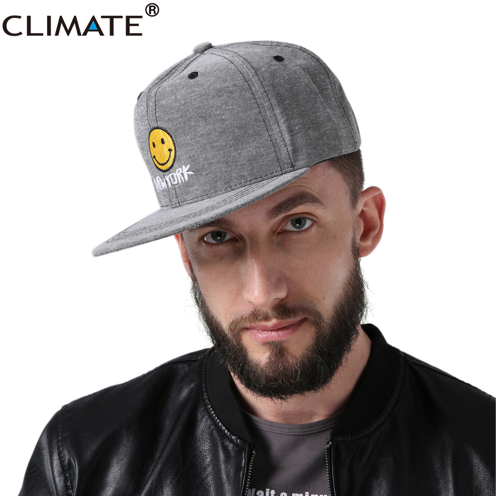 CLIMATE 2017 New Fashion Spring HipHop Lovely Smile Snapback Caps Hat Young Youth Men Women Boys Girls Adjustable Snapback Caps skull style stainless steel finger ring silvery black u s size 9