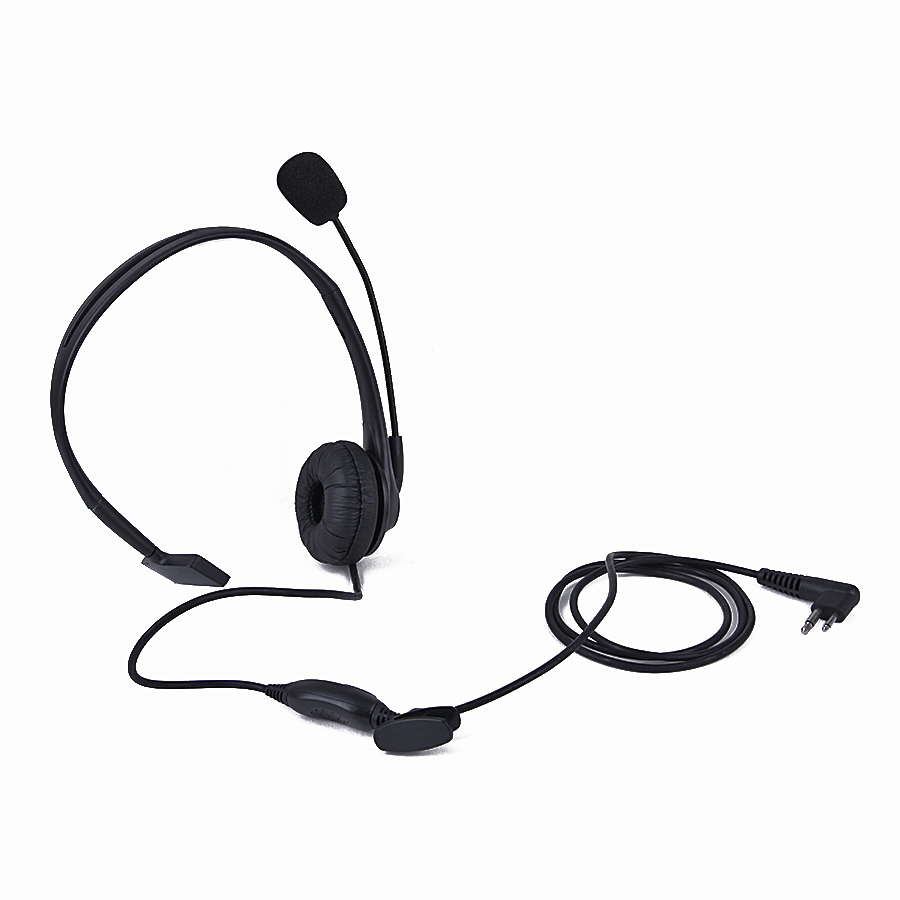 Black 2 Pin PTT Microphone Headset M For Motorola Walkie Talkie Two Way Radio GP-300/88/2000 PRO1150 SLS-1110 GP308, GP68