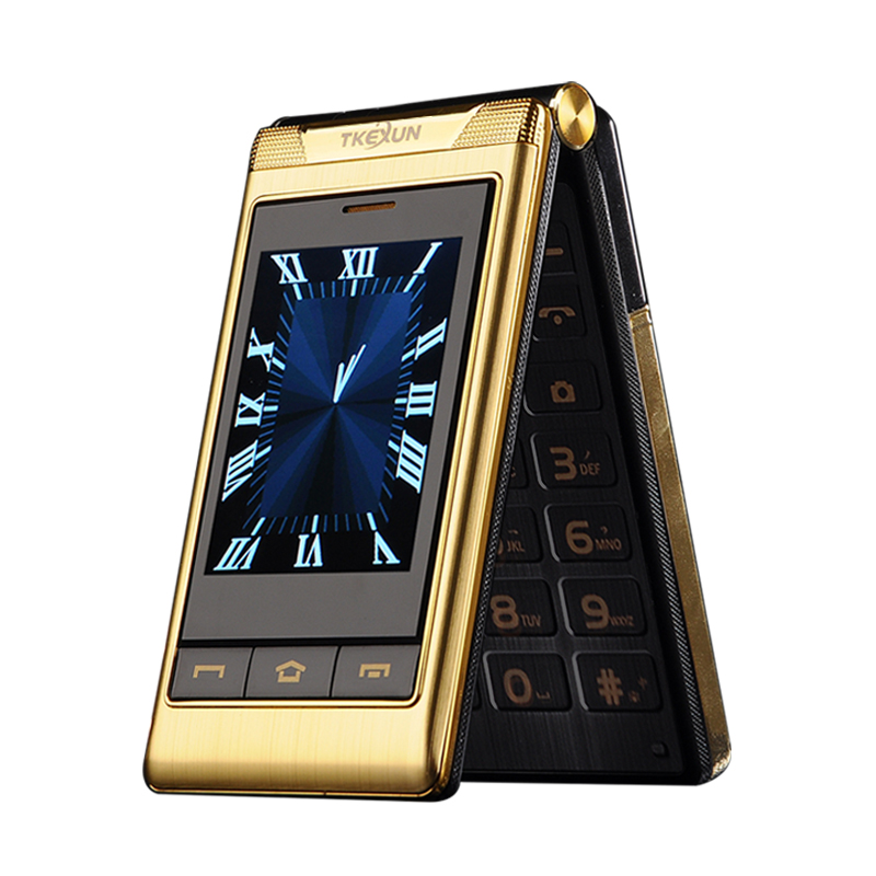 "Luxury House With Phone With: TKEXUN G10 3.0"" Double Dual Screen Dual SIM Card Long"
