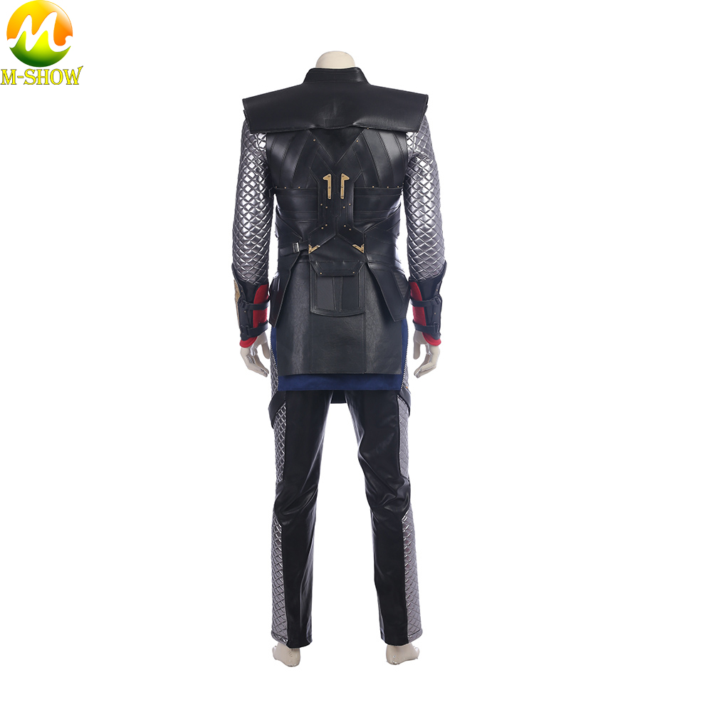 Image 4 - Movie Thor The Dark World Cosplay Costume Superhero Thor Cosplay Halloween Costume Vest Top Cloak Pants Custom Made-in Movie & TV costumes from Novelty & Special Use