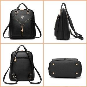 Image 3 - Nevenka anti roubo de couro mochila feminina mini mochilas femininas mochila de viagem para meninas mochilas escolares senhoras saco preto 2018