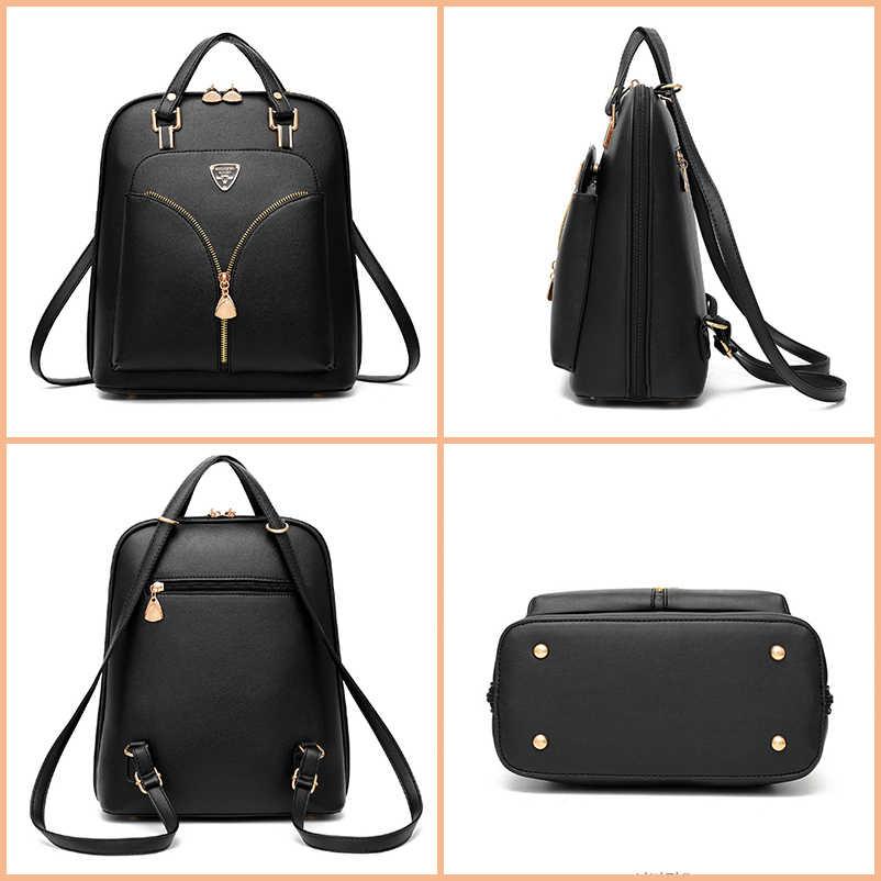 Nevenka Противоугонный кожаный рюкзак женский мини-рюкзак женский походный рюкзак для школьные рюкзаки для девочек Женская Черная сумка 2018