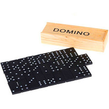 28Pcs/Set Wooden Domino Board Games Domino Toys Travel Funny Table Game 2018 Kid Children Educational Toys For Children Gifts(China)