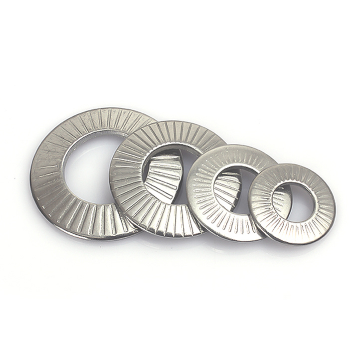 Lock <font><b>Washer</b></font> French <font><b>Washers</b></font> Serrated Conical Spring Disc <font><b>Washer</b></font> Stainless Steel M3 M4 M5 M6 <font><b>M8</b></font> M10 M12 M16 image