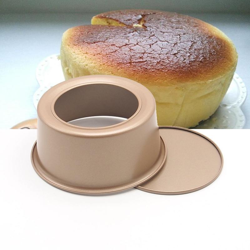 Tigan i rrumbullakët me djathë me fund të heqshëm 6 x 3 inç tortë